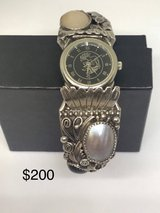 Beautiful signed sterling silver Navajo cuff watch in 29 Palms, California
