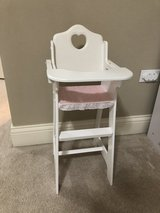 Doll high chair in Glendale Heights, Illinois