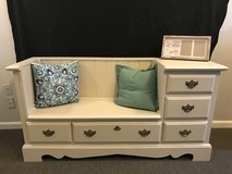Repurposed dresser to bench in The Woodlands, Texas
