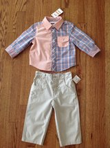 New with Tags First Impressions Baby Toddler Boys 2-Piece Shirt and Pants Set, size 12 months in Schaumburg, Illinois