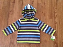 New with Tags Jumping Beans Baby Toddler Boys Striped Fleece Hooded Pullover, Shirt, size 18 months in Schaumburg, Illinois