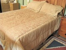 Beautiful Golden colored Brocaded 5 piece Full Bedspread. Made by Westone Home Collections in Yucca Valley, California
