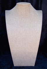 """Quality Large JEWELRY DISPLAY BUST Stand, 17"""", Neutral Linen Cover in Alamogordo, New Mexico"""