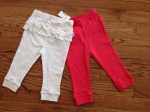 New The Children's Place Baby Girls 2-Pack Cotton Pull-On Pants, size 9-12 months in Palatine, Illinois