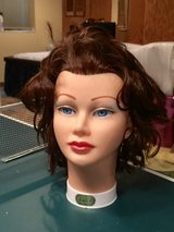 Hair styling doll head in Lockport, Illinois