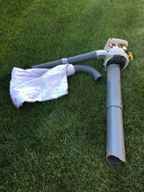 RUNING RYOBI GAS BLOWER WITH SHREDDER/BAGGER ATTACHMENT READY TO WORK in Chicago, Illinois