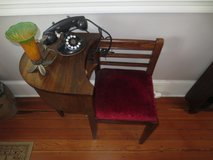 Antique telephone stand in Beaufort, South Carolina