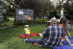 120inch Home Theater Projector Screen Indoor/Outdoor in 29 Palms, California