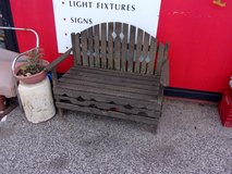 Weathered Wooden Bench in Fort Riley, Kansas