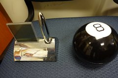 MAGIC 8 Ball and Desk Clock and pen Set in Okinawa, Japan