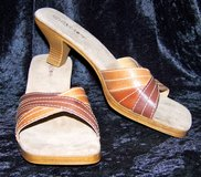 Cara Mia Mules, Suede & Faux Leather, 9 1/2, LIKE NEW! in Alamogordo, New Mexico