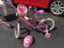 Disney Princess Bike with Basket Carriage and Helmet in Joliet, Illinois