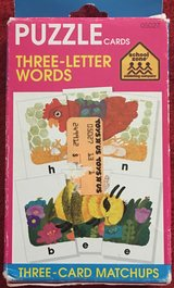 School Zone 3 Letter Puzzle Word Cards in Okinawa, Japan