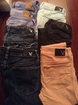 American Eagle jeans, size 0 and 00. Excellent condition for Back to School! in Fort Leonard Wood, Missouri