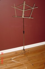 Tall Chrome Collapsible Music Stand in Lockport, Illinois