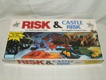 Risk & Castle Risk Board Game Classic Military Strategy 2 Games in 1 in Westmont, Illinois