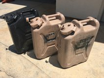 Military USGI 5 ga. Water Cans Jerry Gerry Can in Camp Pendleton, California