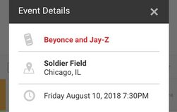 Beyonce & Jay Z On the Run II Tour Tickets in Aurora, Illinois