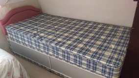 Single divan bed and mattress in Lakenheath, UK