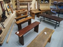 Reclaimed Vintage Barn Wood Benches in Chicago, Illinois