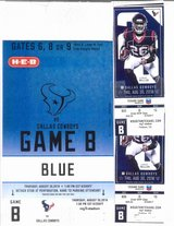 2 tickets with Blue Lot Parking Pass to see the Cowboys vs The Texans on Thursday night August 3... in Baytown, Texas