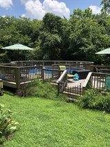 Swimming pool 24 ft round w/ partial deck in Fort Campbell, Kentucky