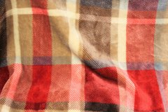 "Fleece Throw Blanket Plaid 50"" x 60"" Red Brown Tan Country Fluffy Warm Comfortable Cold Couch Mo... in Kingwood, Texas"