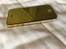 14K Gold plated IPHONE one 4S with Swarovski crystals in Joliet, Illinois