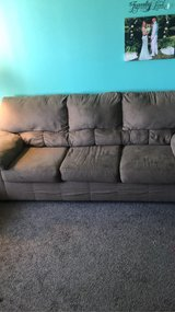 fluffy brown couch in Yucca Valley, California