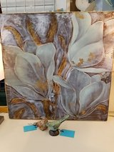 Teal & Gold Floral Wall Art #913-288 in Wilmington, North Carolina