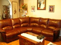 3 Piece leather sectional sofa with recliners in Fort Hood, Texas