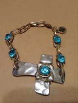 Blue stone cross bracelet in Baytown, Texas