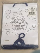 NIP 12 Color Your Own Snowman Christmas Gift Bags in Okinawa, Japan