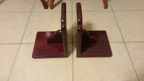Pair of rosewood bookends in Okinawa, Japan