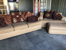 Brown couch and loveseat in Chicago, Illinois