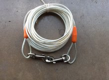 24 FOOT  LONG PLASTICE COADED DOG CABLE in Naperville, Illinois