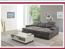United Furniture - Frejuus - Sectional with Sleeper and Storage Chaise  - includes delivery in Stuttgart, GE