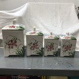 Porcelain canister set with 4 pieces in Bartlett, Illinois