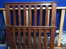 Solid oak twin bed frame in Naperville, Illinois