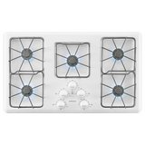 Amana 36 in. Gas Cooktop in White with 5 Burners AGC6356KFW in Tacoma, Washington