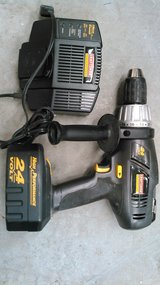 """Craftsman 24 volt Professional 1/2"""" cordless drill with charger in Cherry Point, North Carolina"""