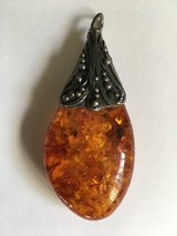 Amber necklace in Yucca Valley, California