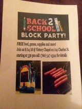 Back To School Block Party in Cherry Point, North Carolina
