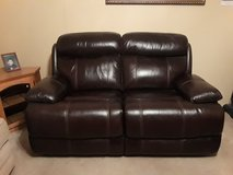Double leather loveseat recliner in Kingwood, Texas