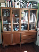 1960s retro hutch from John A Smith Co. in Tinley Park, Illinois