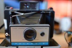 Polaroid Land Camera Automatic 210 in Yucca Valley, California