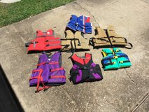 Life jackets various sizes in Spring, Texas