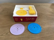 fisher Price toy record player & two records in Fort Bliss, Texas