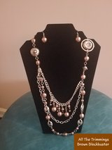 All the Trimmings Brown Blockbuster Necklace in Fort Campbell, Kentucky