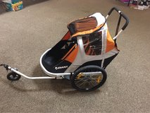 giant pea pod bike trailer w stroller attachment in Glendale Heights, Illinois
